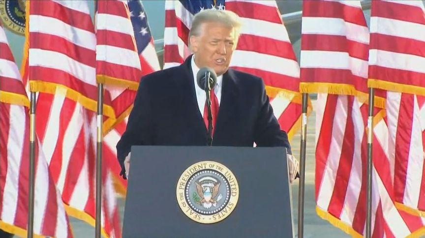 Donald Trump fez o último discurso como presidente dos EUA a apoiadores (20.jan.2021)