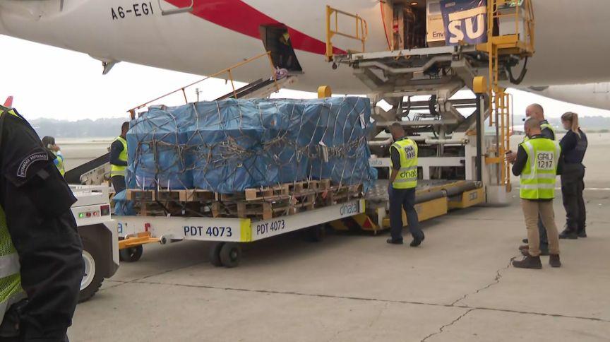 Doses importadas da fórmula AstraZeneca/Oxford, produzidas na Índia, para o Brasil