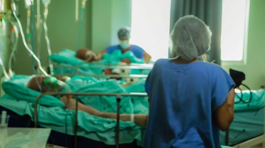 Pacientes de Covid-19 em hospital de Rondônia