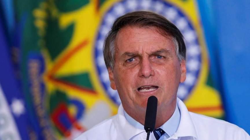 12.jan.2021 - Presidente Jair Bolsonaro durante cerimônia no Palácio do Planalto