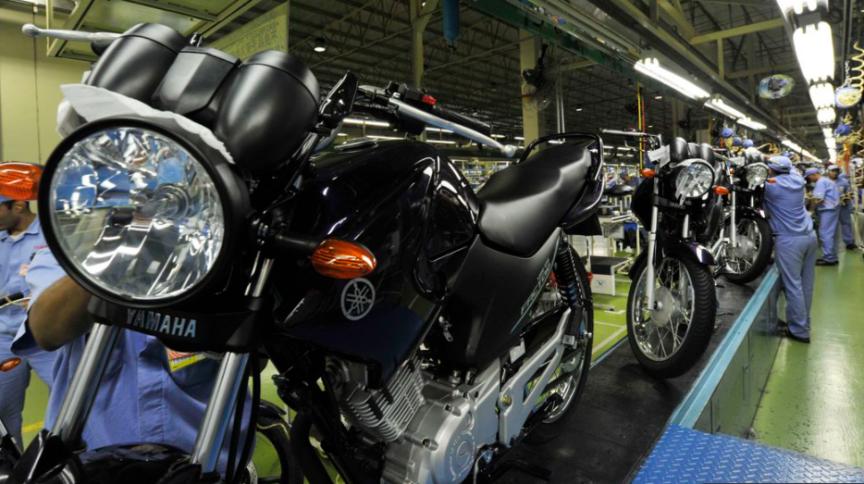 Produção de motocicleta