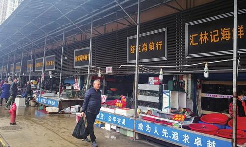 Mercado de frutos do mar de Huanan, em Wuhan, que foi fechado após surto de Covid-19
