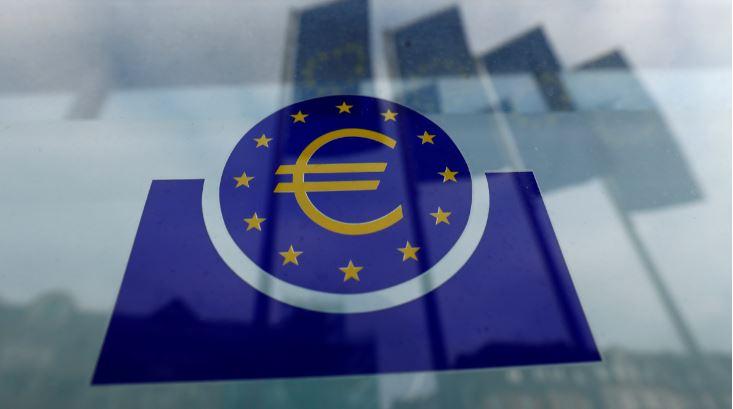 Logo do Banco Central Europeu em Frankfurt, Alemanha