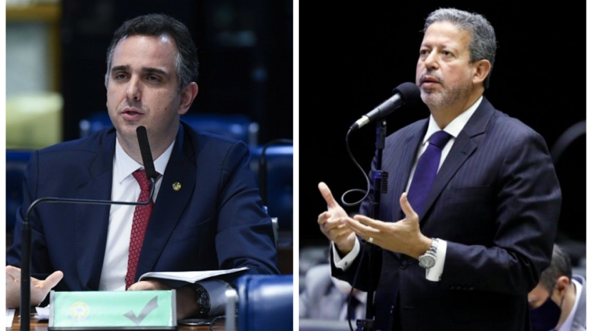 O senador Rodrigo Pacheco (DEM-MG) e o deputado Arthur Lira (PP-AL)