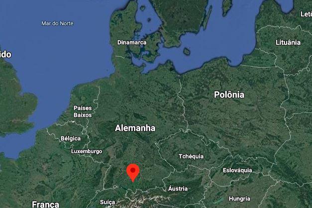 Localização de Memmingen, na Alemanha
