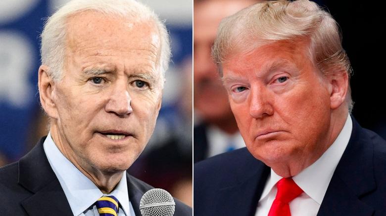 O ex-vice-presidente Joe Biden e o presidente Donald Trump