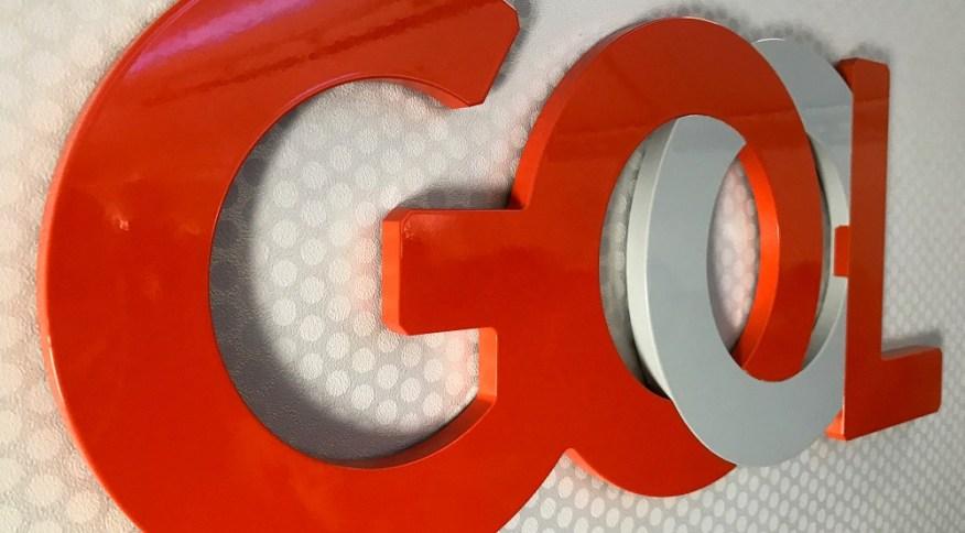 Logo do companhia aérea Gol: empresa ainda amarga uma queda de quase 60% no valor de suas ações