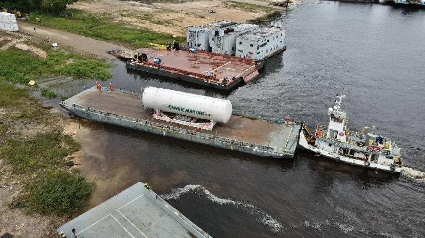 Amazonas recebeu tanque capaz de armazenar 90 mil m³ de oxigênio medicinal