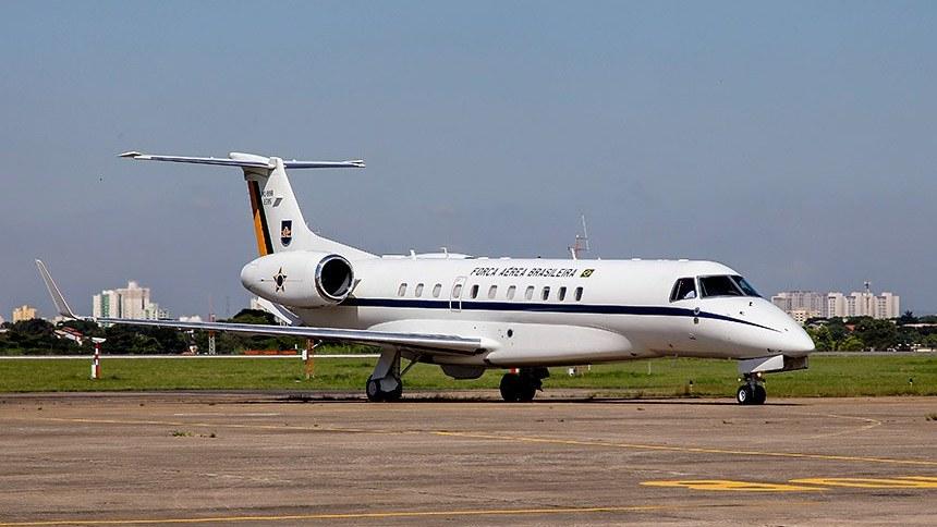 Jato da FAB (Força Aérea Brasileira) usado no transporte de autoridades