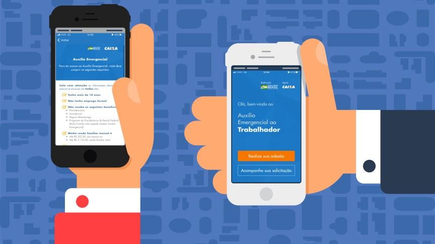 Caixa lançou aplicativo para auxílio emergencial