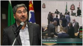 Em dezembro, Cury foi flagrado pelas câmeras de segurança da Alesp passando a mão no seio da parlamentar durante sessão na Casa