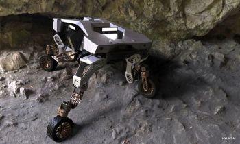 O veículo autônomo se moverá o mais longe que puder sobre as rodas, mas, ao encontrar obstáculos pelos quais não pode passar, se erguerá para passar por cima
