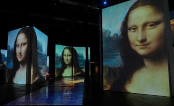 """O Museu da Imagem e Som (MIS) Experience foi reaberto em São Paulo neste sábado (13) com a retomada da exposição """"Leonardo da Vinci - 500 anos de um gênio"""""""