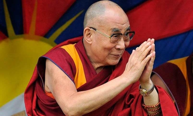 O 14º detentor do título de Dalai Lama, Tenzin Gyatso