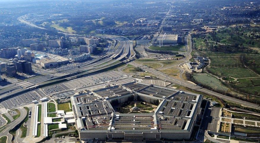 O Pentágono, em Washington, EUA, sede do Departamento de Defesa