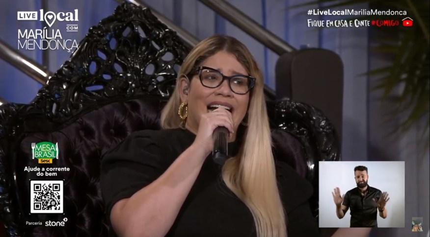 Cantora Marília Mendonça quebra recorde de visualizações em live no Youtube