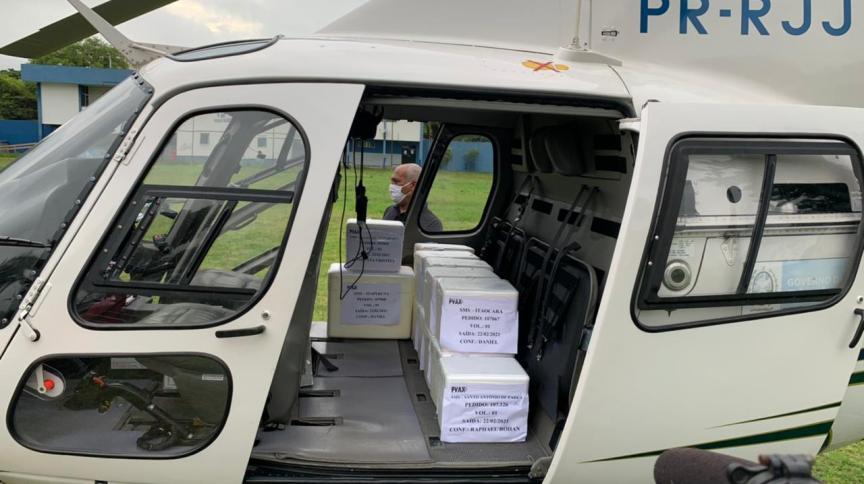 RJ usará helicópteros para distribuir doses da vacina contra Covid-19 para municípios do interior