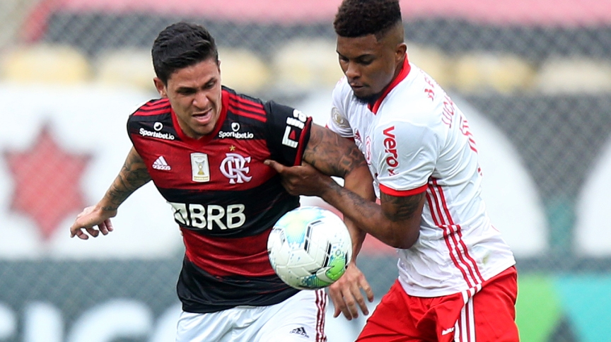 Flamengo e Internacional, que se enfrentaram na 37ª rodada, disputam o títtulo