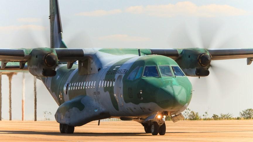 Aeronave C-104 da Força Aérea Brasileira será usado no transporte de respiradores