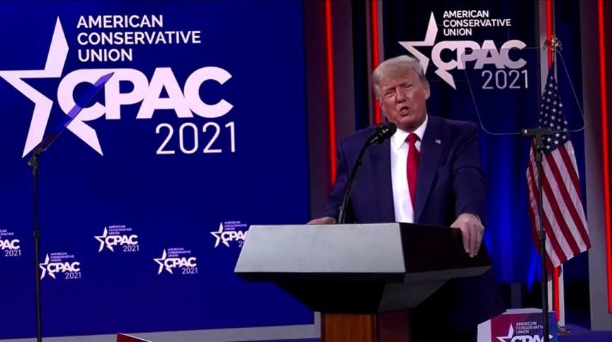 Trump em discurso na Conferência de Ação Política Conservadora (CPAC)