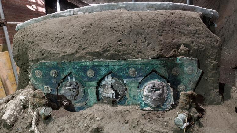 Carruagem foi localizada intacta pelos escavadores
