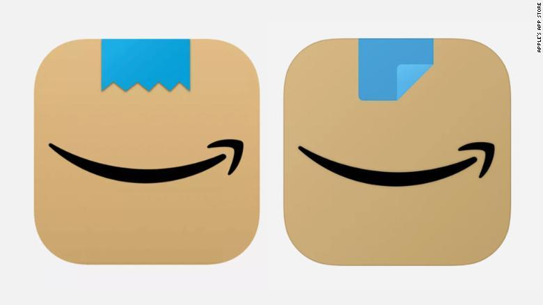 A primeira versão do ícone, à esquerda, e a versão atualizada, à direita