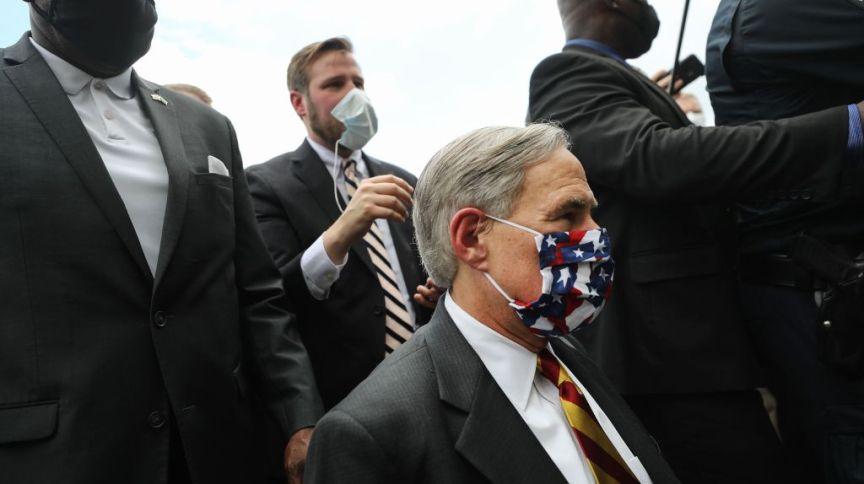 Greg Abbott, governador do Texas: político alegou, sem evidências, que imigrantes são responsáveis pela Covid-19 no estado