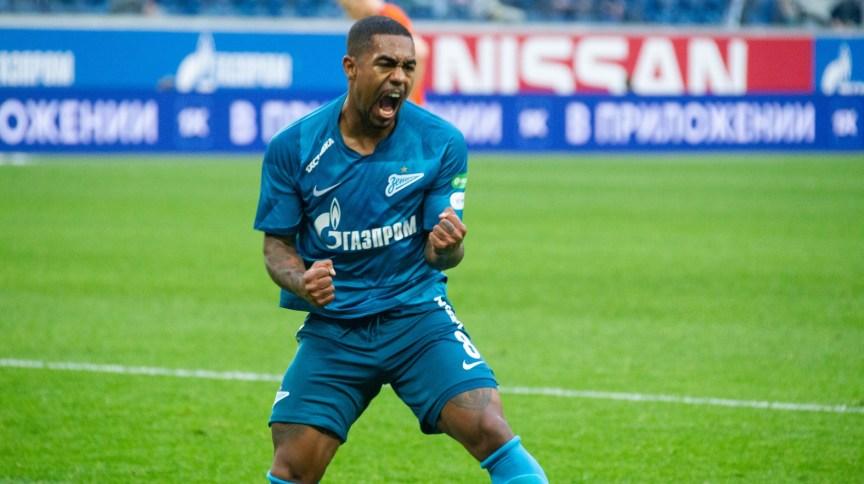 O atacante Malcom, em partida do Zenit pelo campeonato russo