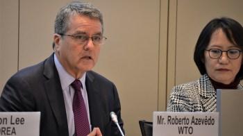 O brasileiro Roberto Azevêdo, de 62 anos, assumiu o cargo de diretor-geral da OMC em 2013 e está em seu segundo mandato