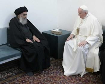 Pontífice se encontrou com liderança xiita islâmica e pregou contra a violência, a desigualdade e a intolerância entre os povos