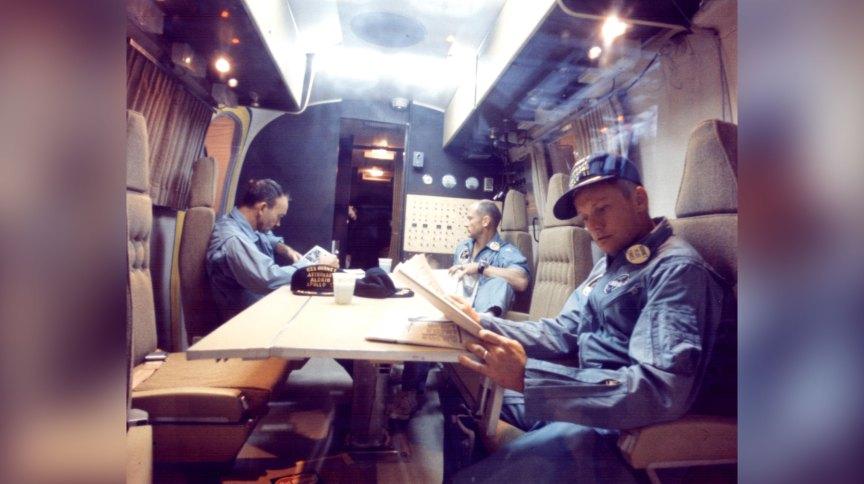 Os astronautas que foram à Lua na missão Apollo 11