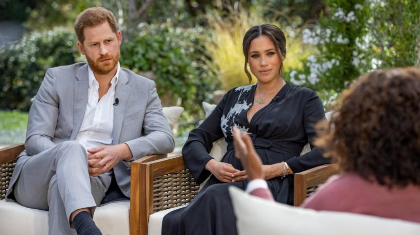 Harry e Meghan em entrevista para Oprah Winfrey