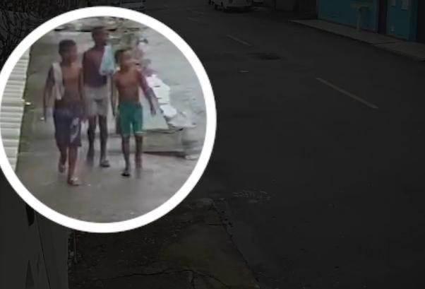 Imagens mostram meninos de Belford Roxo no dia do desaparecimento