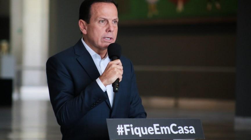 Governador do Estado de São Paulo, João Doria (PSDB), durante coletiva de imprensa sobre novo coronavírus (09.abr.2020)