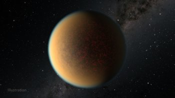 GJ 1132 b orbita uma estrela fora do Sistema Solar e evoluiu de mundo gasoso para rochoso