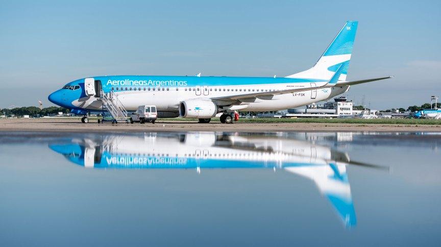 Avião da Aerolineas Argentinas
