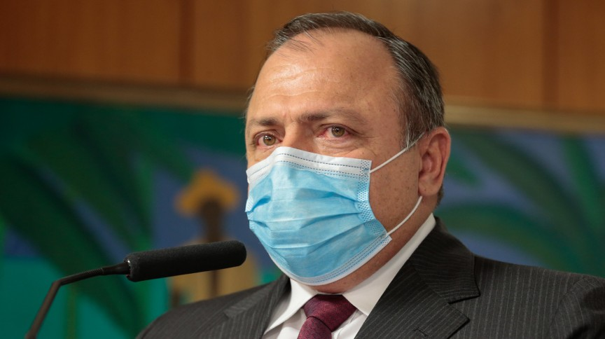 O ministro da Saúde Eduardo Pazuello