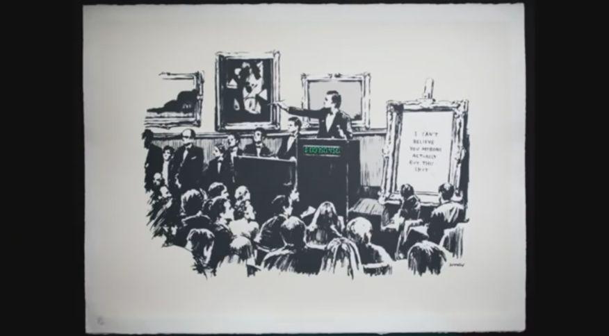 Versão digital de obra de Banksy foi vendida por US$ 382 mil