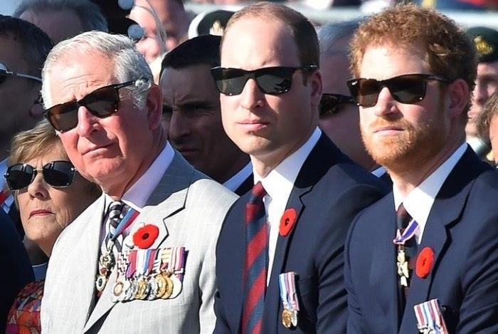 Charles, William e Harry