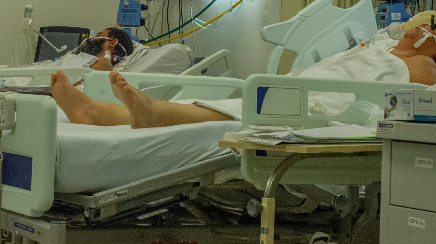 Pacientes no hospital da Restinga, no Rio Grande do Sul