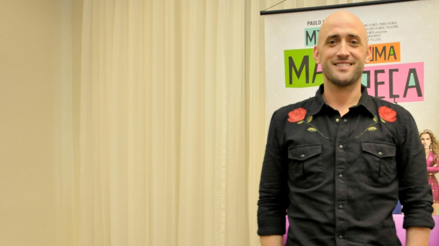 O ator e humorista Paulo Gustavo promove o filme 'Minha Mãe é uma Peça', em São Paulo