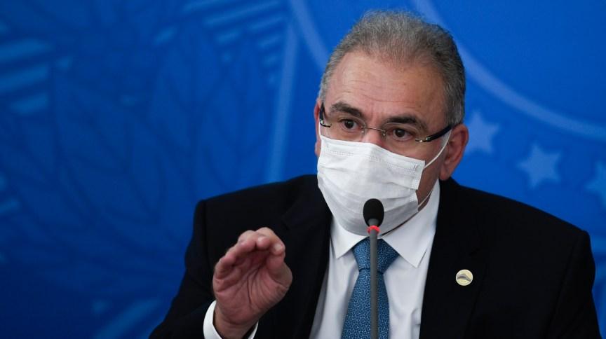 O ministro da Saúde Marcelo Queiroga