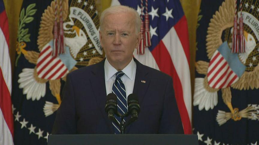 O presidente dos Estados Unidos, Joe Biden, durante coletiva de imprensa
