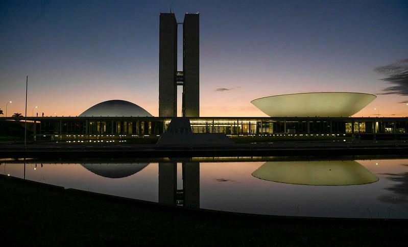 Fachada do Congresso Nacional. Foto tirada em 7 de janeiro de 2019
