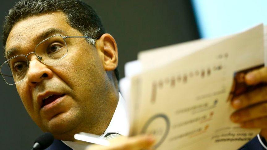 O secretário do Tesouro Nacional, Mansueto Almeida, durante entrevista coletiva para comentar o Resultado Primário do Governo Central, em fevereiro de 2020