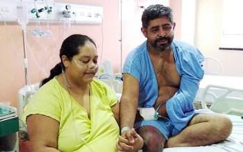 Situação comoveu funcionários do Hospital Estadual Leonardo Da Vinci (Helv), em Fortaleza, onde casal deu entrada no mesmo dia