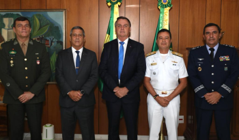 General Paulo Sergio Nogueira, o almirante Almir Garnier Santos e o tenente-brigadeiro Baptista Júnior assumem a direção das Forças