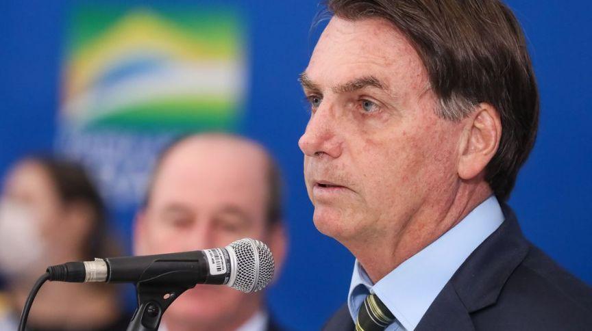 Jair Bolsonaro durante declaração para a imprensa. (23.mar.2020)