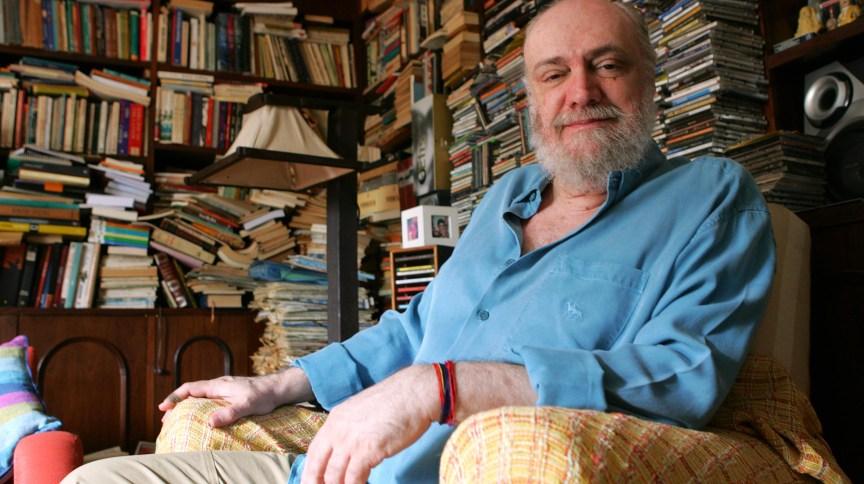 O compositor de Aldir Blanc, 73, que foi transferido para o Hospital Universitário Pedro Ernesto, no Rio de Janeiro, na tarde desta quarta-feira (15/04). Foto de arquivo de 29/09/2006.