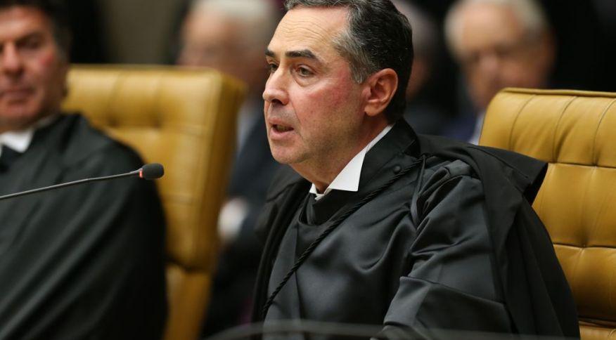 O ministro do STF Roberto Barroso durante solenidade de posse do novo presidente do Supremo Tribunal Federal (STF), ministro Dias Toffoli. Brasília, 14 de setembro de 2018.